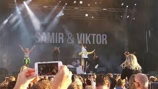 Samir o Victor Halmstad 2019 aug 24 #stadfest #samir_victor