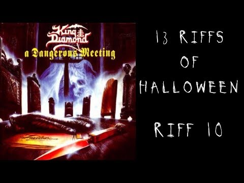 13 Riffs of Halloween: Riff 10 - A Dangerous Meeting by Mercyful Fate - Steve Stine Guitar Lesson