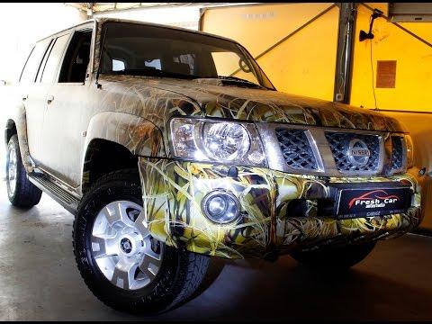 Киев пленка на авто камуфляж FreshCar Nissan Patrol