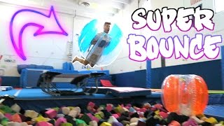TRAMPOLINE PARK WITH A BUBBLE BALL!
