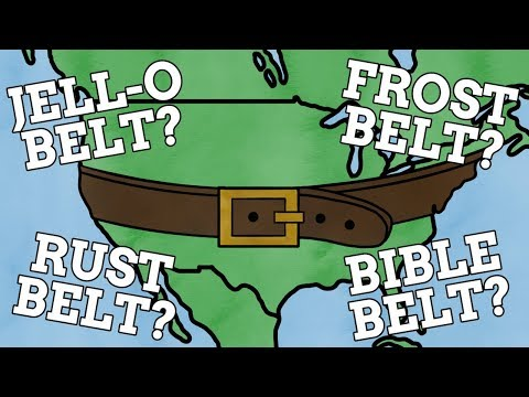 How Did The Belts Of The USA Get Their Names?