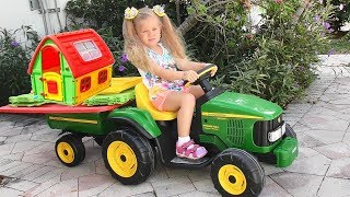 Roma and Diana Pretend Play with toys and Playhouse, Top Videos by Kids Diana Show! thumbnail