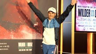 JULIO CEJA GRAND ARRIVAL @ MGM GRAND AHAED OF WBA WORLD TITLE CHALLENGE AGAINST BRANDON FIGUEROA