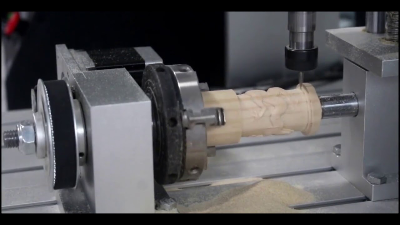 Cuarto eje para CNC - Sagaón Tech - YouTube