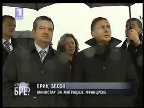 Ivica Dačić kao turistički vodič na Kalemegdanu