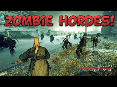 ZOMBIE HORDES! - Sniper Elite: Nazi Zombie Army with LAGx #1 |