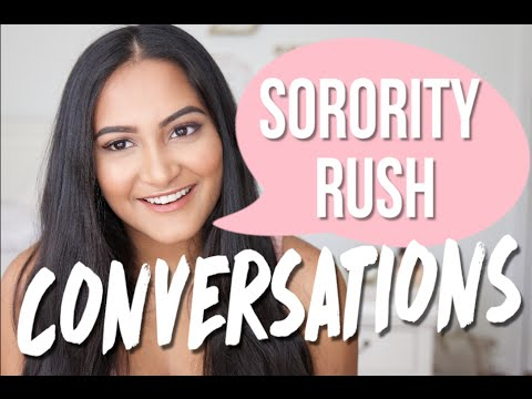 Conversation Tips & What Questions To Ask Sorority Members #HowToSorority