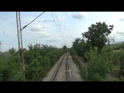 Train Driver's view: railroad in Serbia from Osipaonica to Lozovik-Saraorci - SERBIAN RAILWAYS