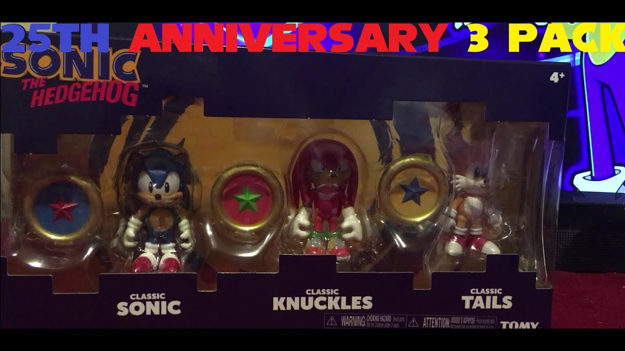 Sonic The Hedgehog 25th Anniversary 3 Pack Review Tomy Youtube