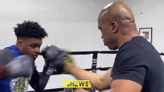 Errol Spence working out with Derrick James Ready For ANYONE! | EsNews Boxing