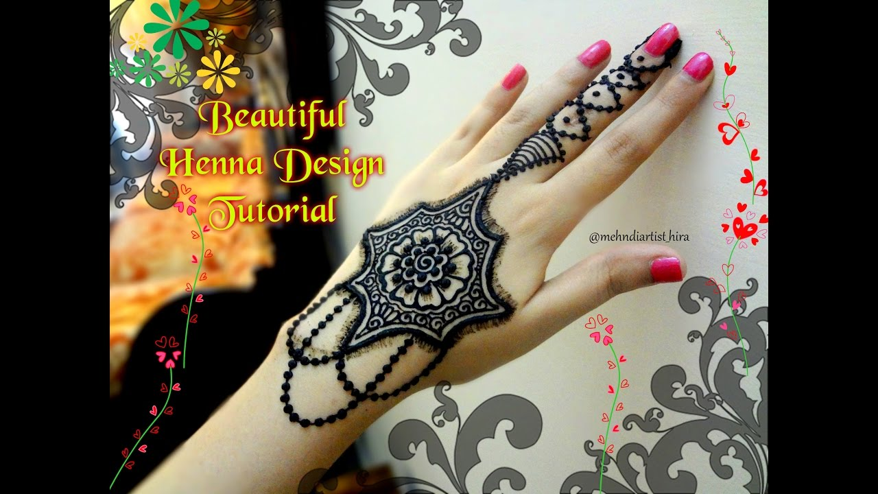 Mehndi Designs Tutorial : Easy simple latest henna mehndi designs for hands tutorial