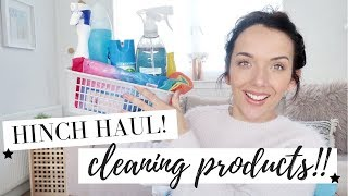 mrs hinch haul huge cleaning products haul home bargains 2018