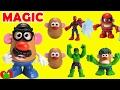 Mr Potato Head Marvel Heroes Spiderman, Captain America, Hulk Magic