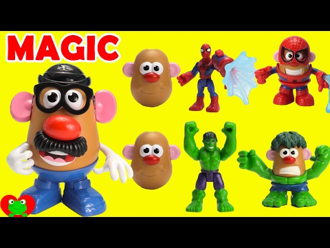 Mr Potato Head Marvel Heroes Spiderman, Captain America, Hulk Magic
