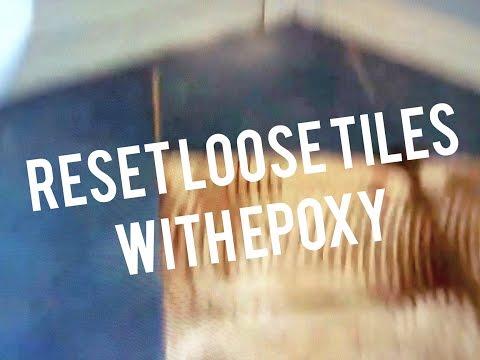 Repair Ceramic Tiles Heated Bathroom Floor Loose Lifting  Epoxy Fix