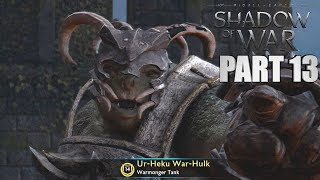 Middle Earth:  Shadow Of War Walkthrough Part 13 - NURNEN WARCHIEF HUNTING - PC 1080p60