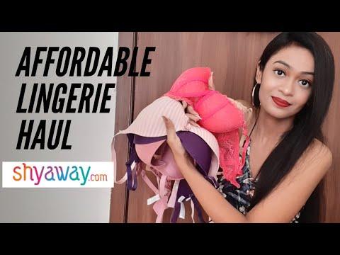 MOST AFFORDABLE DESIGNER LINGERIE HAUL | Best Online Bras Shopping | SHYAWAY HAUL |