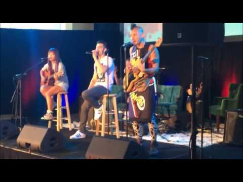DNCE performing at the Citigroup Building in NYC