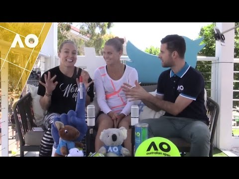 Bethany Mattek-Sands/Lucie Safarova in the Twitter Blue Room | Australian Open 2017