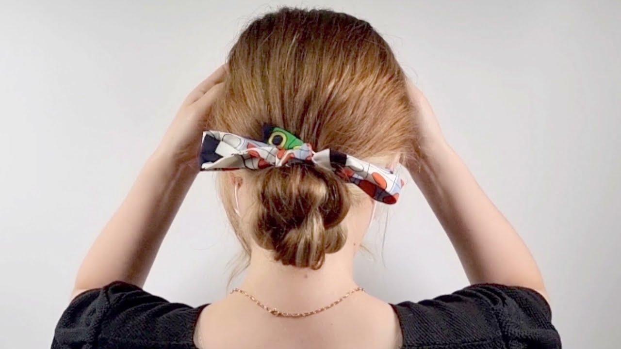 스카프로 묶었을 뿐인데 모양예쁜 올림머리 ~How to tie a scarf hair