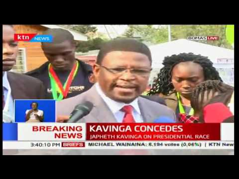 BREAKING NEWS: Independent presidential candidate Japheth Kavinga concedes defeat