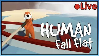 Human Fall Flat - W/Squid - 🔴 Live