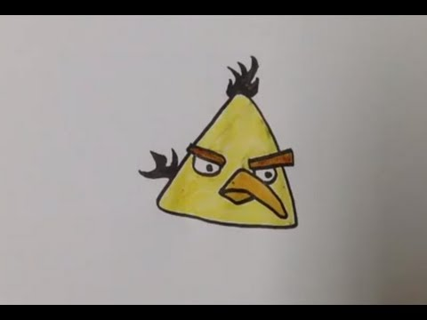 Dessiner l'oiseau jaune d'Angry Birds - Astuce dessin