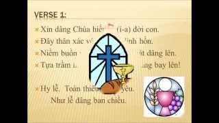 Dâng Chúa Hiến Lễ Đời Con