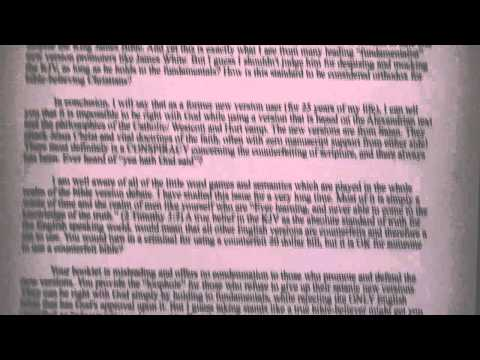 Answering A FAKE KJV Only Pastor Part 2
