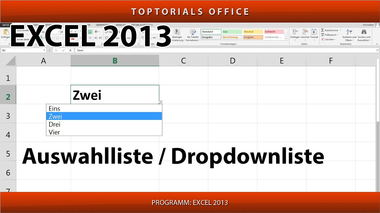 Auswahlliste    Dropdownliste Erstellen Auch Aus