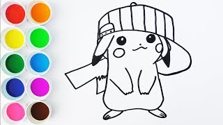Como Dibujar y Colorear a Pikachu de Arco Iris - Videos Para Nios - Learn Colors  For Kids FunKeep