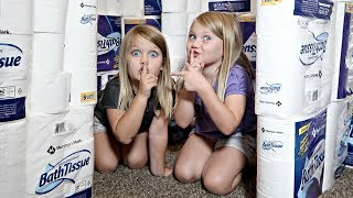 GIANT Toilet Paper Fort!