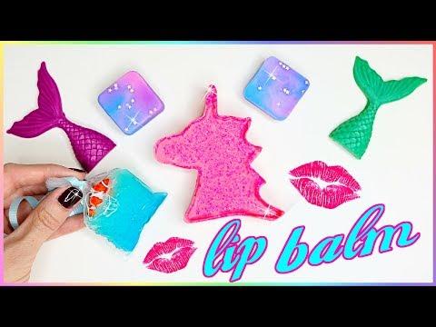 DIY Lip Balm! How To Make 5 Miniature Unicorn,Mermaid,Galaxy & Aquarium! Lip Gloss DIYs{EASY}Crafts