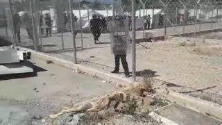 Baixar Police intervene in Pournara camp, Cyprus, using tear gas