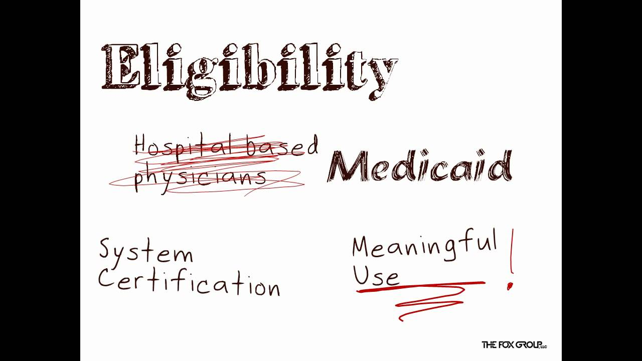 EMR/EHR: Medicare Incentives in the HITECH Act - YouTube
