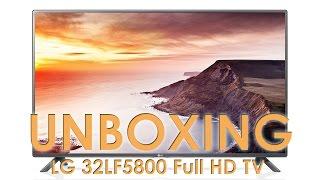 01. LG LF5800 (LF58 series) TV unboxing