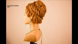 how to do bridal party bun hairstyle  (magic techniques by chandra prakash patel)