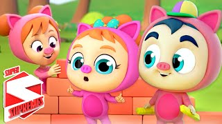 Three Little Pigs Story For Kids | Pretend Play Song | Story Time For Babies with Super Supremes