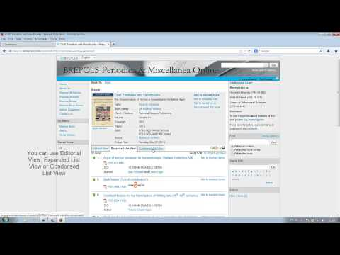 Reading and downloading an e-book – Brepols Periodica Online – Helsinki University Library