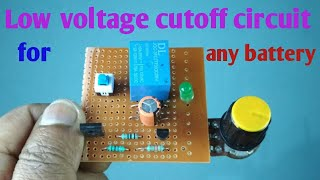 Low voltage cutoff for battery