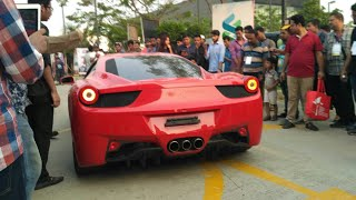 Fastest And Expensive Cars Of Bangladesh   Dhaka Motor Show 2018   Ferrari  458 Loud Revs