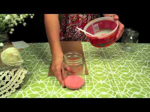 How to Paint Mason Jars for Your Wedding!