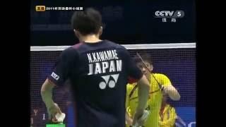 佐藤翔治/川前直樹 vs カイ・ユン/フー・ハイファン バドミントン スディルマンカップ2011 P1MD