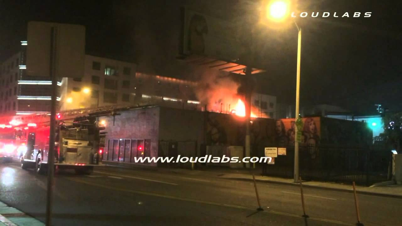 """Download Kat Von D's """"LA Ink"""" Tattoo Shop on Fire / West Hollywood    RAW FOOTAGE"""