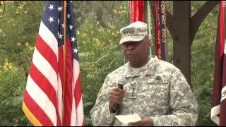 Vice Chief of Staff of the Army Gen. Lloyd Austin awards three Purple Hearts
