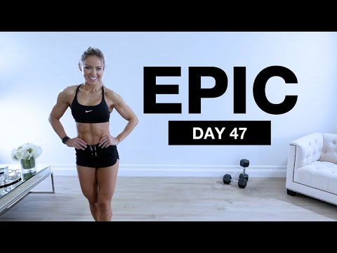 Day 47 of EPIC | LEG DAY Workout with Dumbbells & Bodyweight [SUPERSETS]