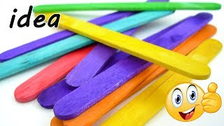Popsicle Stick Crafts 💡 Wall Decoration Ideas  🏠 DIY Home Decor Craft   Popsicle Sticks Design Ideas