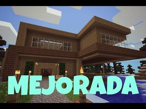 Asombrosa casa para minecraft pe versi n mejorada del for Las mejores casas modernas