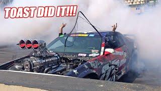 TOAST POPS TIRES IN AUSTRALIA!!!!! (It Wasn't Pretty)