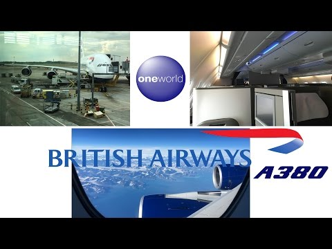 British Airways Business Class Airbus A380 London Heathrow to Vancouver FULL FLIGHT